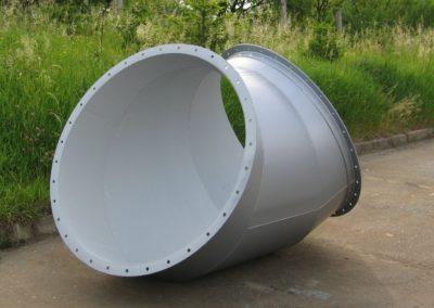 Obr. 14 - Koleno vzduchotechnického dílu